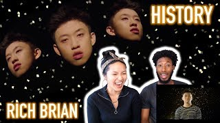 BLASIAN COUPLE REACTS TO RICH BRIAN - HISTORY (OFFICIAL VIDEO) | REACTION