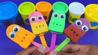 Making 4 Ice Cream Out of 8 Colors Play Doh 🐼 Learn Colors with Hello Kitty Modelling Clay