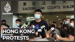 Hong Kong activist Joshua Wong appears in court