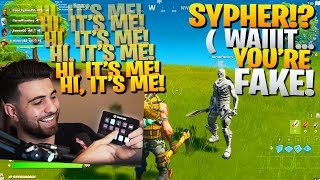 I Pretended To Be A FAKE SypherPK Using A Soundboard! - Fortnite Battle Royale Random Duos