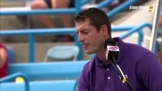 Sleeping chair umpire Richard Haigh in Cincinnati