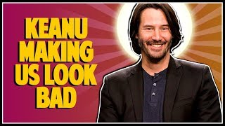 KEANU REEVES DOESN'T TOUCH WOMEN IN PHOTOS - Double Toasted