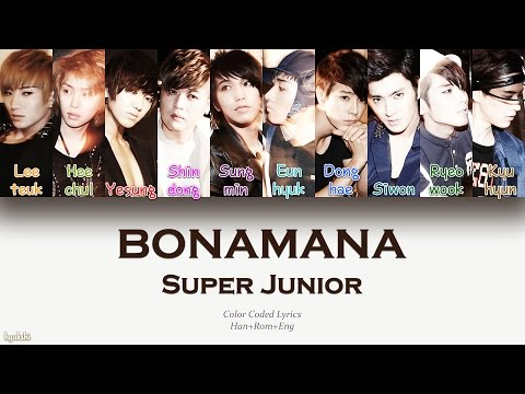 Super Junior (슈퍼주니어) – BONAMANA (미인아) (Color Coded Lyrics) [Han/Rom/Eng]