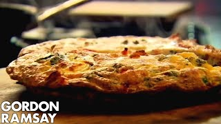 Bacon, Pea & Goat's Cheese Frittata - Gordon Ramsay