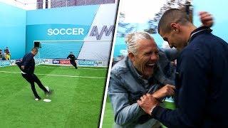 Conor Coady vs Jason Byrne | Penalties, volleys, free kicks & crossbar challenge | Soccer AM Pro Am
