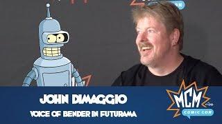 John DiMaggio Talks Voicing Bender In Futurama at MCM Comic Con London - May 2018