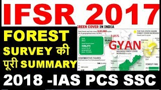 FOREST SURVEY COMPLETE SUMMARY 2018 ENVIRONMENT CURRENT AFFAIRS india state of forest report isfr