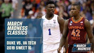 Duke v. Virginia Tech: 2019 March Madness classic (FULL GAME)