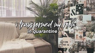 transforming my room in quarantine (chill aesthetic room makeover!)