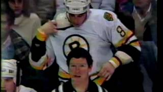 Cam Neely vs Chris Nilan