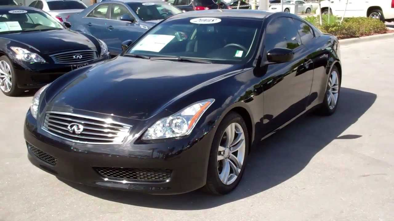 Used Infiniti G37 >> 2008 Infiniti G37 Coupe Used Car Dealer Fort Myers Naples ...