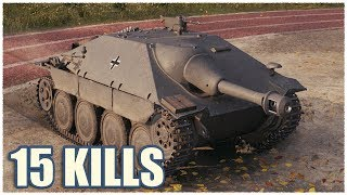 /hetzer 15 kills wot gameplay