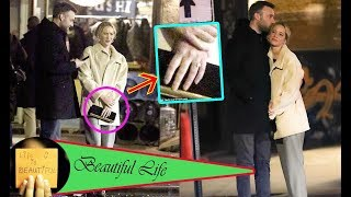 Jennifer Lawrence's new fiance Cooke Maroney sweetly kisses her head on romantic date night