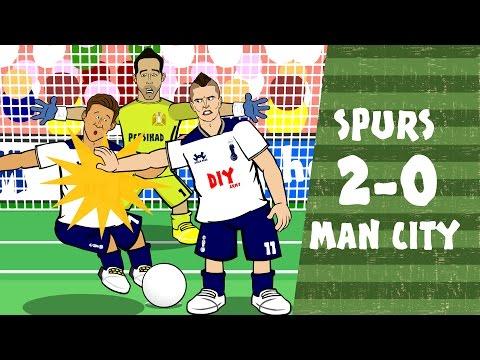 Son has got his HAT ON! Tottenham vs Man City 2-0 (Heung-Min Son Song Goals Highlights 2016)