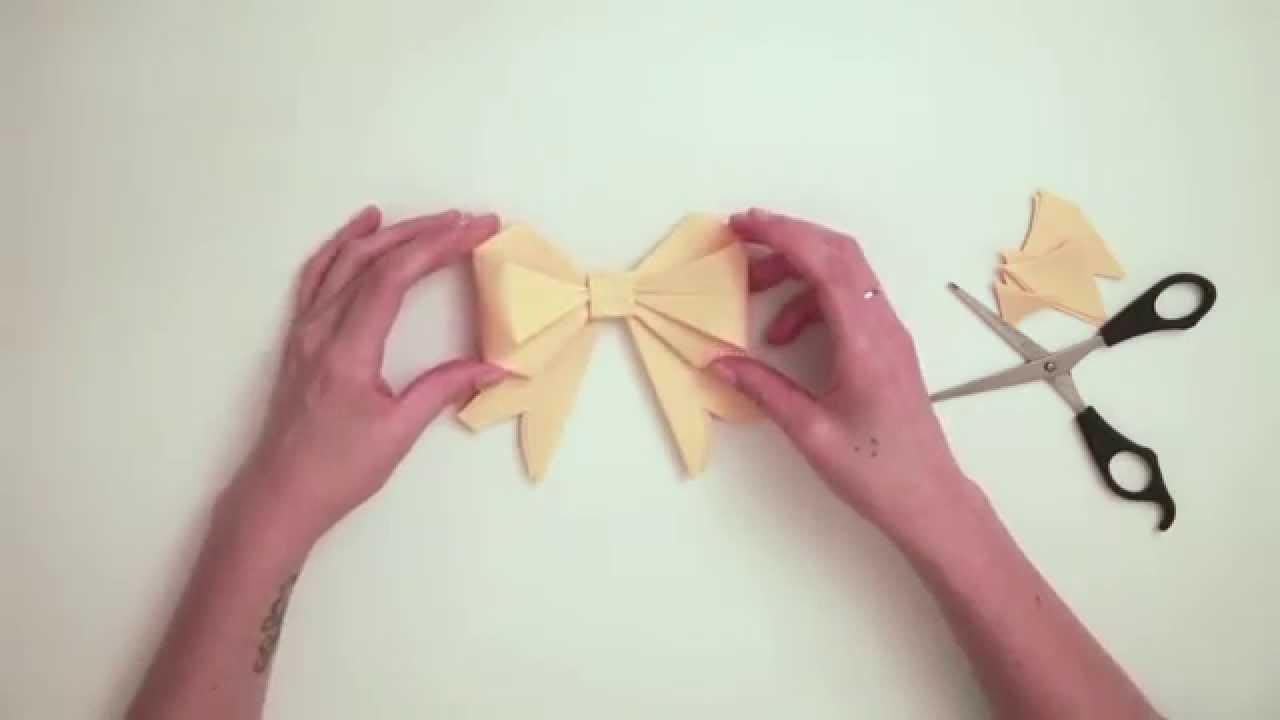 tuto origami facile le n ud youtube. Black Bedroom Furniture Sets. Home Design Ideas