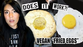 "VEGAN ""FRIED EGGS""?! Does it WORK?!  | Tasty Tuesday"