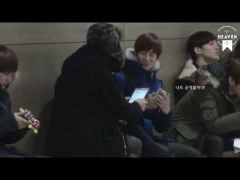 [Fancam] 130116 Chanyeol & Suho funny moment^^