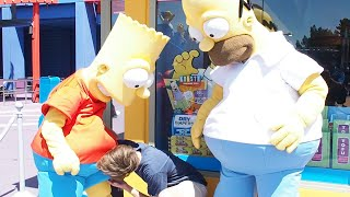 SIMPSONS THEME PARK! - (He's sucking Bart's D*ck)
