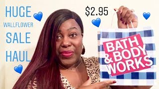 HUGE WALLFLOWER SALE HAUL | Bath & Body Works💙