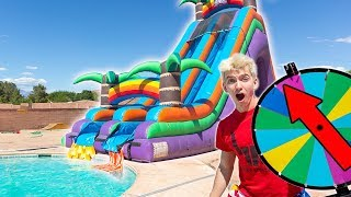 WORLDS BIGGEST INFLATABLE WATER SLIDE!!