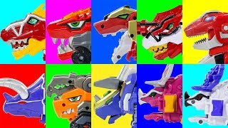 Tyrannosaurs Triceratops PowerRangers DinoCharges MegaZord DinoCore Evolution Buster Saver Transform