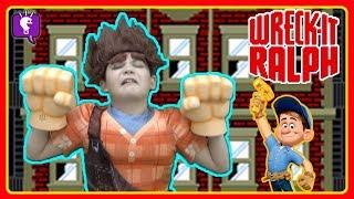 Wreck-It Ralph KIDS Go Into Fix-It Felix Jr. GAME! by HobbyKidsTV