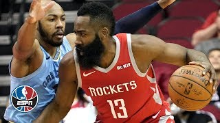 James Harden dominates Grizzlies with 57 points in Rockets victory | NBA Highlights