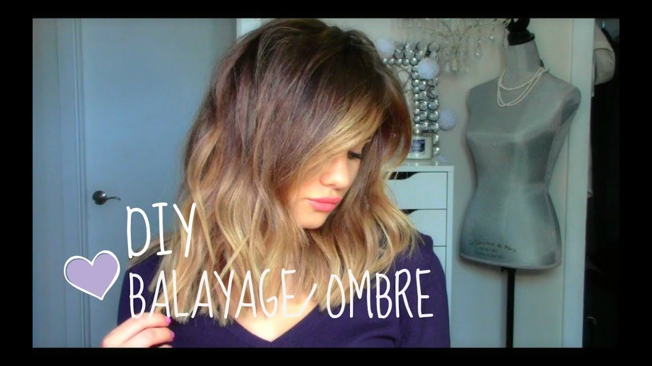 Diy Balayage Or Ombre At Home Youtube