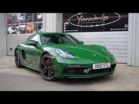 My Porsche Cayman Wrapped In Green!