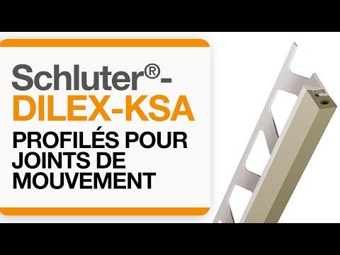 Comment installer un profilé de joint de mouvement dans une aire carrelée : Schluter®-DILEX-KSA