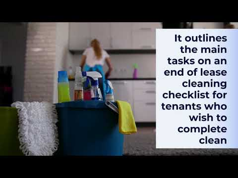 Main Tasks On An End of Lease Cleaning Checklist