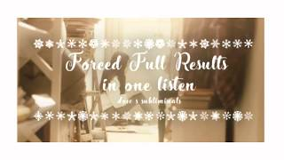 Forced Full Results In One Listen(Subliminal Booster) Christmas Edition