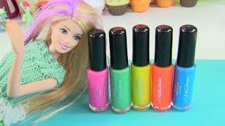 Búp bê barbie | Sơn Móng Tay Barbie |  trang điểm cho búp bê |  Đồ chơi trẻ em | Chị Bí Đỏ