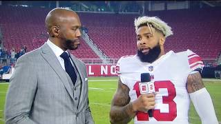 Odell Beckham Jr interview on the win vs 49ers and the new him after the injury