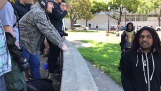BREAKING: Tensions escalate in Berkeley, man confronts Trump supporters