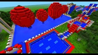 Minecraft Wipeout - TOTAL WIPEOUT CHALLENGE with Vikkstar, Mitch & Rob (Minecraft Parkour)