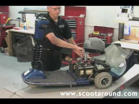 How to Disassemble a Pride Scooter for Transport