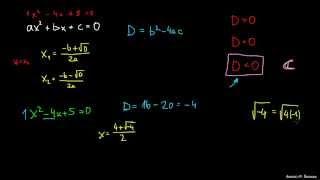 Kvadratna enačba in kompleksni rešitvi