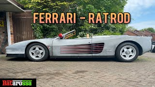 Abandoned Ferrari Testarossa Rescued to Build the Worlds ONLY Rat Rod Ferrari - CHEAP !!