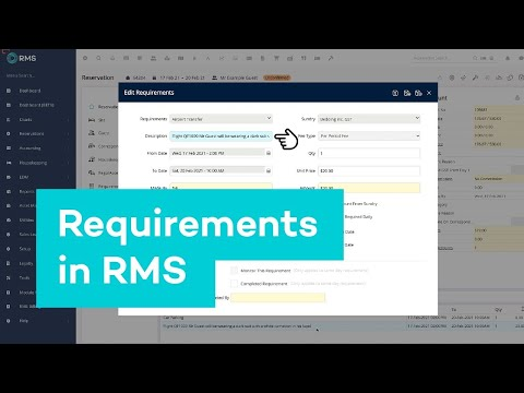 Reservation Screen | How to use requirements in RMS
