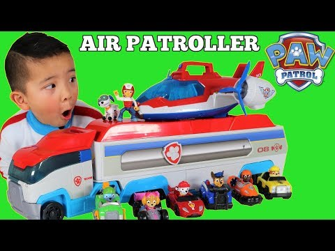 Paw Patrol AIR PATROLLER Toy Unboxing With Ryder Chase ...