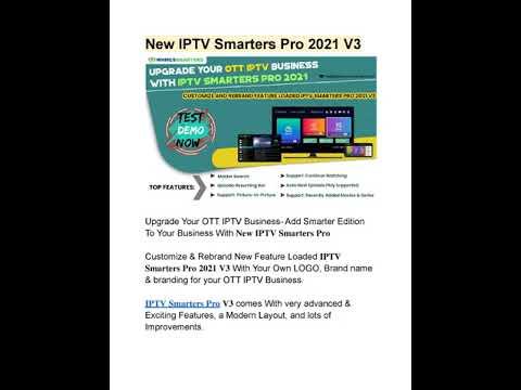 REBRAND NEW IPTV SMARTERS PRO V3 FOR YOUR OTT IPTV BUSINESS