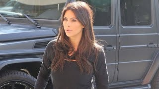 Kim Kardashian Sexy At The Studio In All Black Workout Gear [2014]