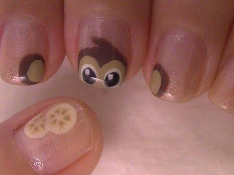 Monkey Nail Art Youtube