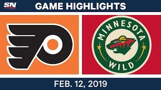 NHL Highlights | Flyers vs. Wild - Feb 12, 2019