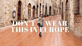 How To NOT Look Like A Tourist | What To Wear In Europe