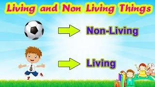 Living and Non-Living Things (सजीव-निर्जीव गोष्टी) | Kindergarten Educational Videos For Kids
