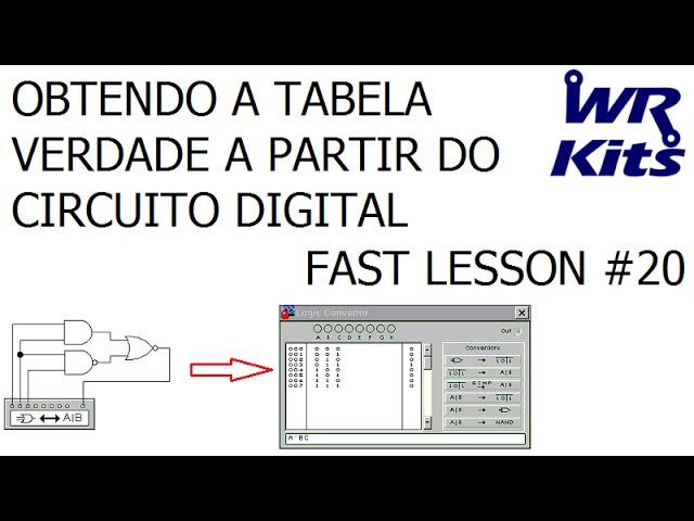 OBTENDO A TABELA A VERDADE A PARTIR DO CIRCUITO DIGITAL | Fast Lesson #20