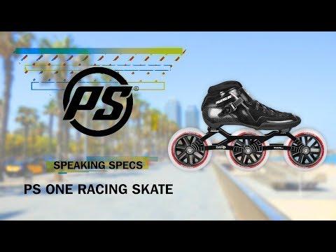 Video POWERSLIDE Roller vitesse PS One 12.8 100mm Noir