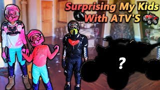 Surprising My Kids With ATV'S (Royalty Fell Off)